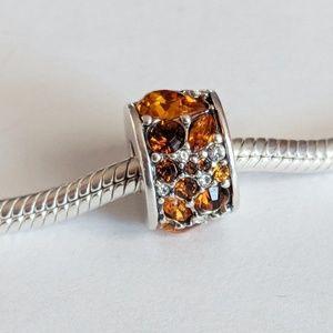Chamilia Orange Swarovski Mosaic Charm